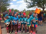 "Campbellsburg Elementary ""Girls on the Run"" finish year with 5K."