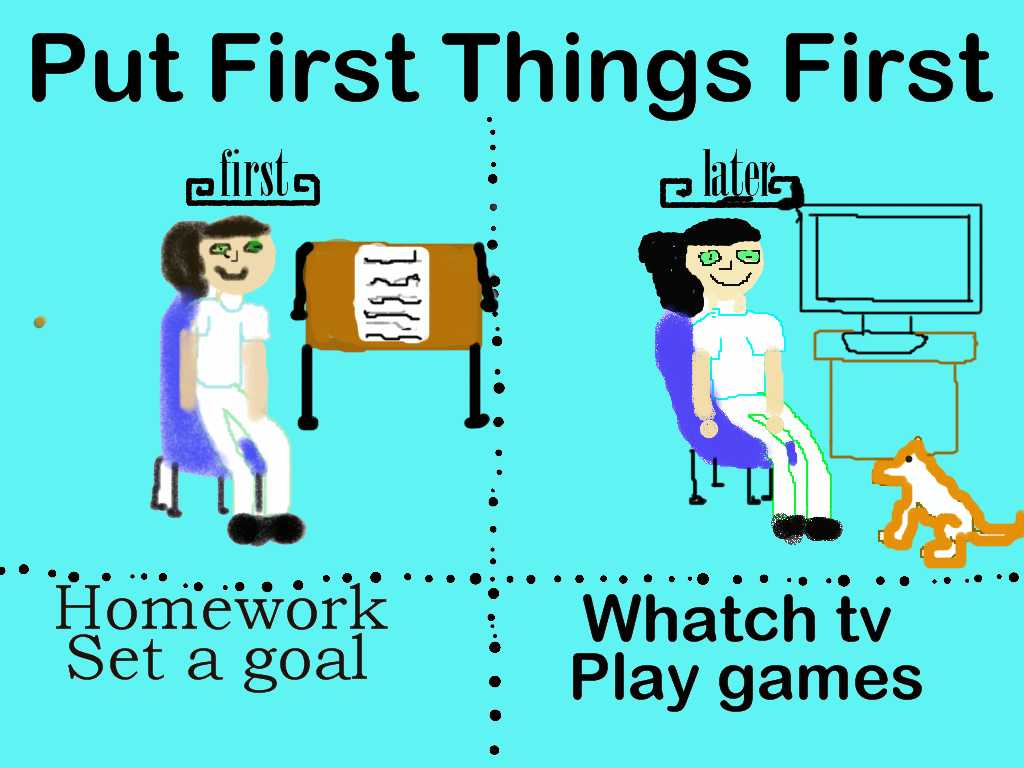 First Things First&hellip
